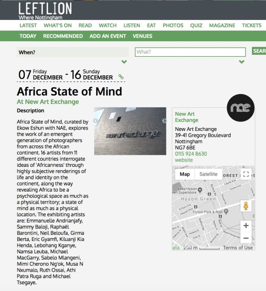 Africa State of Mind At New Art Exchange | Main Image