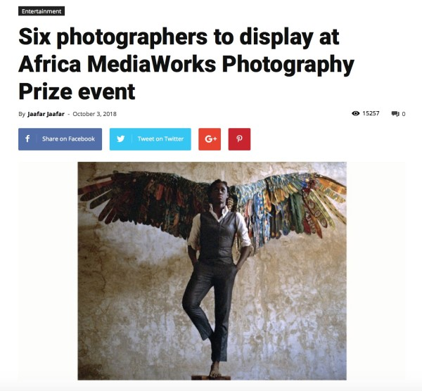 Six photographers to display at Africa MediaWorks Photography Prize event | Main Image