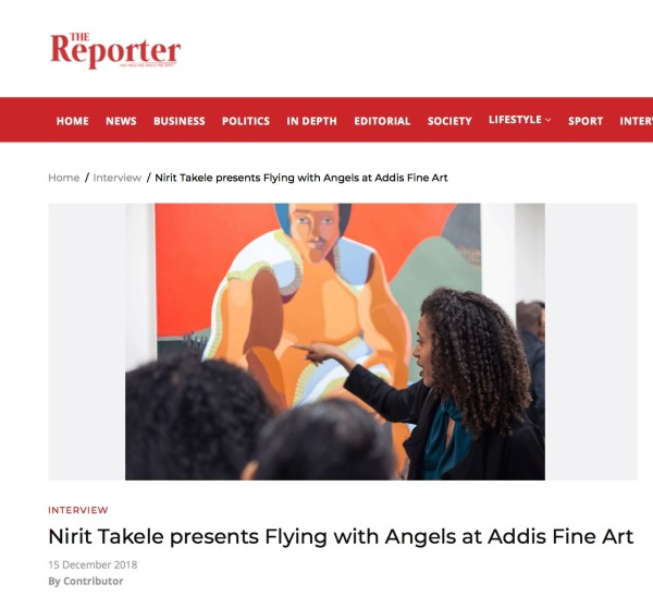 Nirit Takele presents Flying with Angels at Addis Fine Art | Main Image