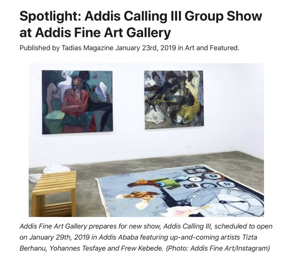 Spotlight: Addis Calling III Group Show at Addis Fine Art Gallery | Main Image