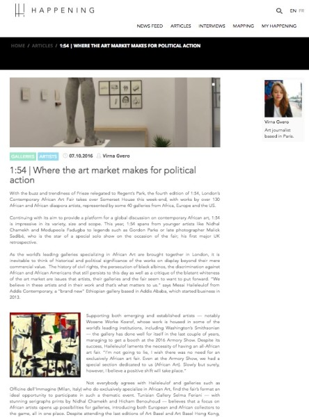1:54 | Where the art market makes for political action