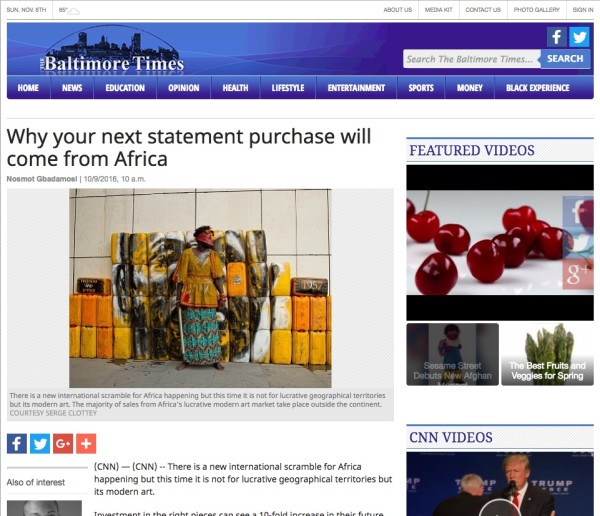 Why your next statement purchase will come from Africa