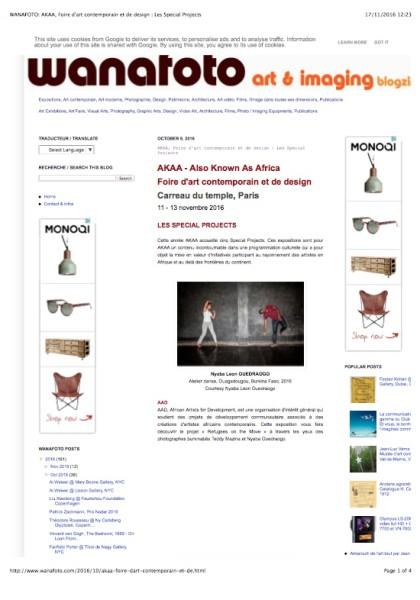 Wanafoto: AKAA, Foire d'art contemporain et de design : Les Special Projects