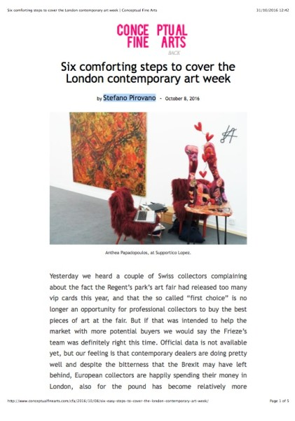 Six comforting steps to cover the London contemporary art week
