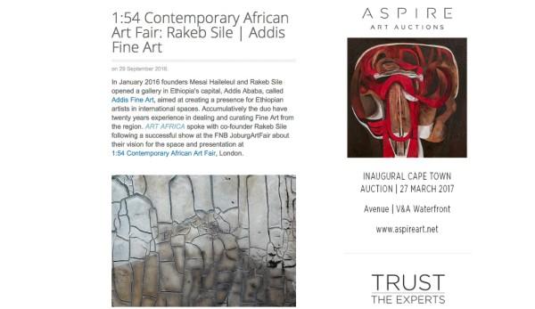 1:54 Contemporary African Art Fair: Rakeb Sile | Addis Fine Art