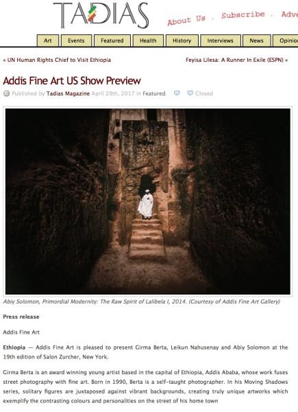 Addis Fine Art US Show Preview