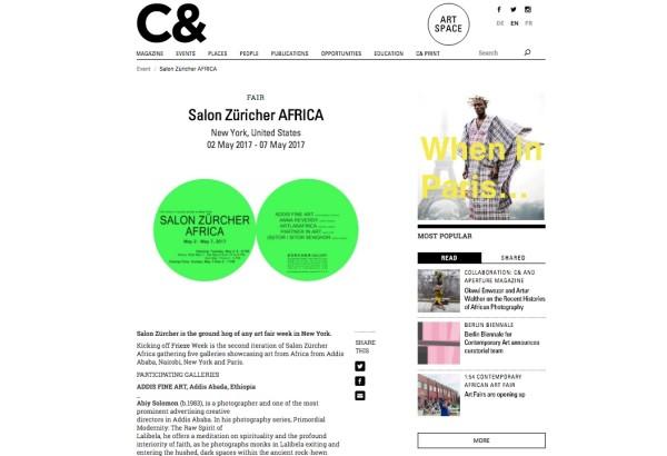 Salon Züricher AFRICA, New York