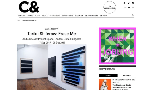 Tariku Shiferaw : Erase Me