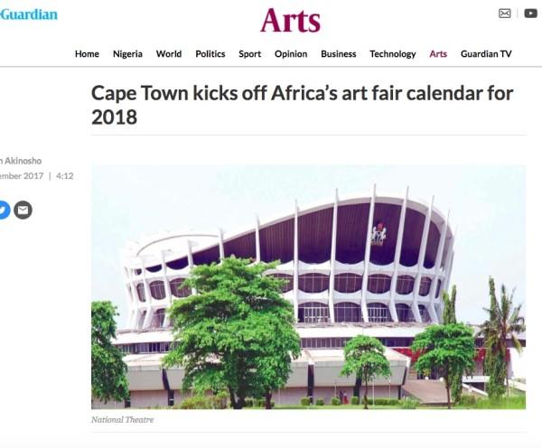 Cape Town kicks off Africa's art fair calendar for 2018