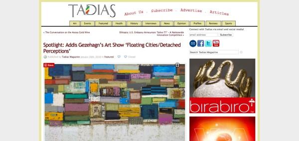 Sppotlight: Addis Gezehagn's Art Show 'Floating Cities/ Detached Perceptions'
