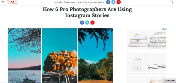 How 6 Pro Photographers are using Instagram stories