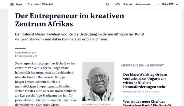 Der Entrepreneur im kreativen Zentrum Afrikas