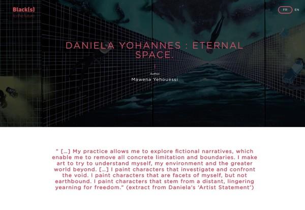 DANIELA YOHANNES : ETERNAL SPACE.
