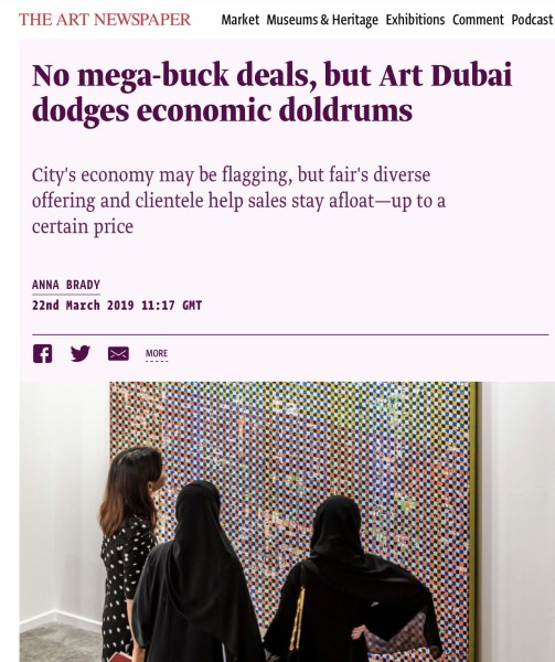 Artnewspaper Art Dubai 2019