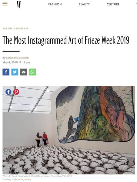 The Most Instagrammed Art of Frieze Week 2019