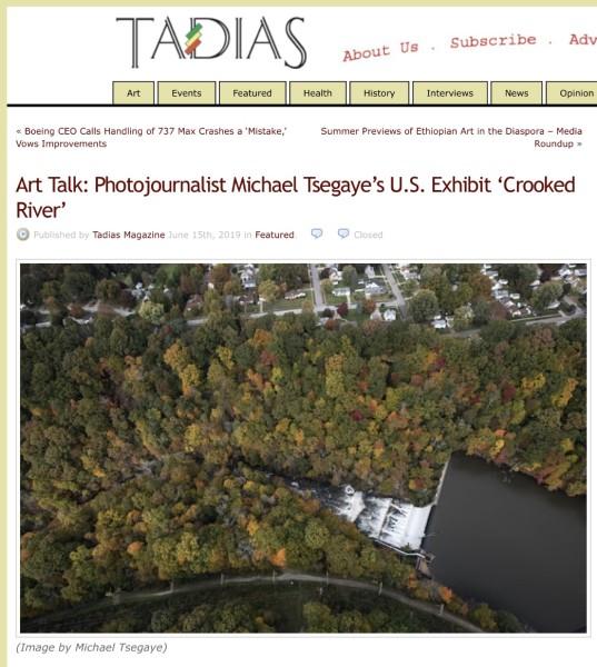 Art Talk: Photojournalist Michael Tsegaye's U.S. Exhibit 'Crooked River'
