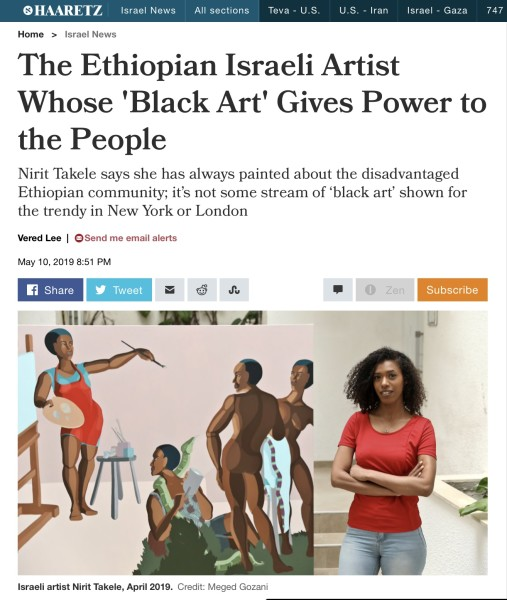 The Ethiopian Israeli Artist Whose 'Black Art' Gives Power to the People