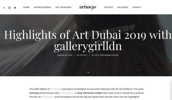 Highlights of Art Dubai 2019 with gallerygirlldn