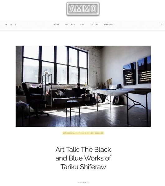 Art Talk: The Black and Blue Works of Tariku Shiferaw