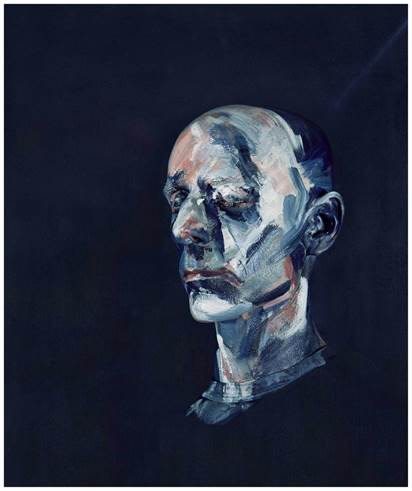 """After """"Study for Portrait II (After the Life Mask of William Blake), 1955"""""""