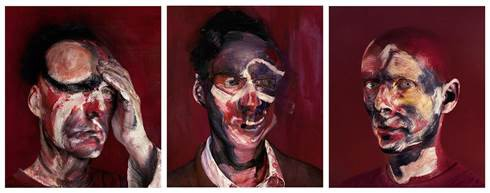 "After ""Three Studies for Portrait of Lucian Freud, 1965"""