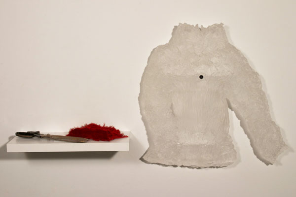 Cassandra Straubing, The Fabric Cutter, With Her Favored Shears, Separates A Spool Of Savory Thread., 2014