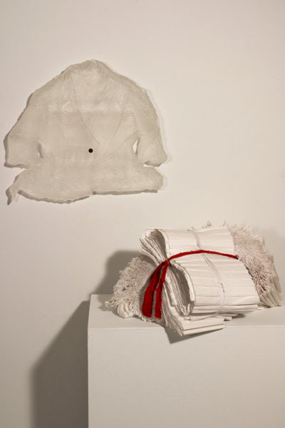 Cassandra Straubing, The Garment Pleater Bound Her Bundle Of Paper Pleat Waist With A Skirt Of Reminiscences., 2014