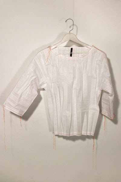 Cassandra Straubing, On Monday, The Garment Worker Hung Out Her Poetic Ghost., 2014