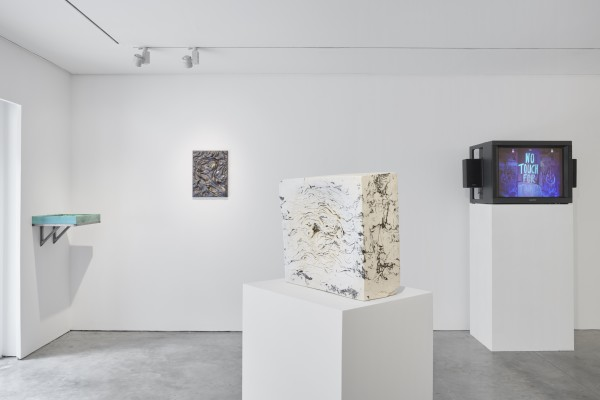 Installation View Of New Work Material At Cob Gallery Left To Right Xavier Robles De Medina Fernando Casasempere Sam Austen Courtesy Of Cob Gallery