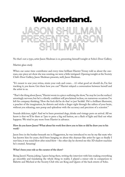 Jason Shulman presents Jason Shulman