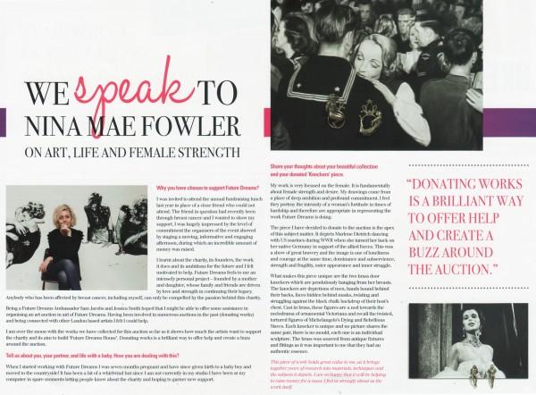 Nina Mae Fowler on Art, Life and Female Strength