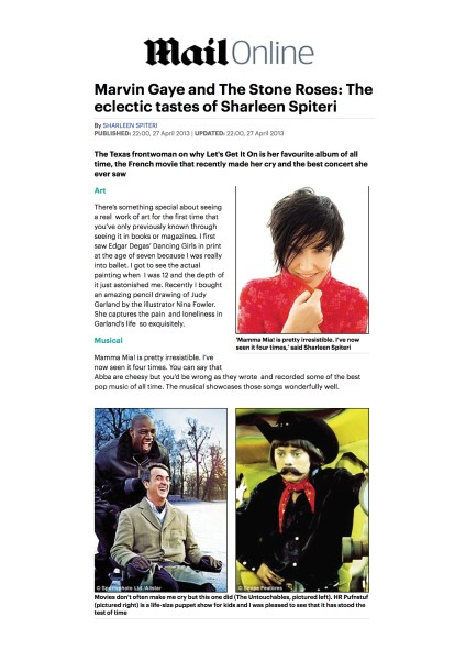 Marvin Gaye and The Stone Roses: The eclectic tastes of Sharleen Spiteri