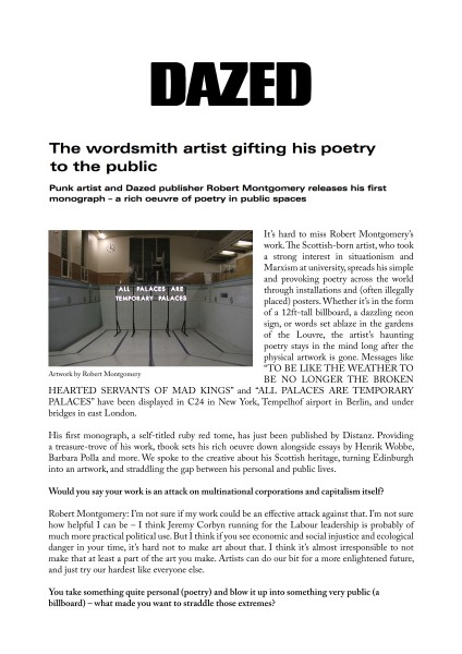 The wordsmith artist gifting his poetry to the public