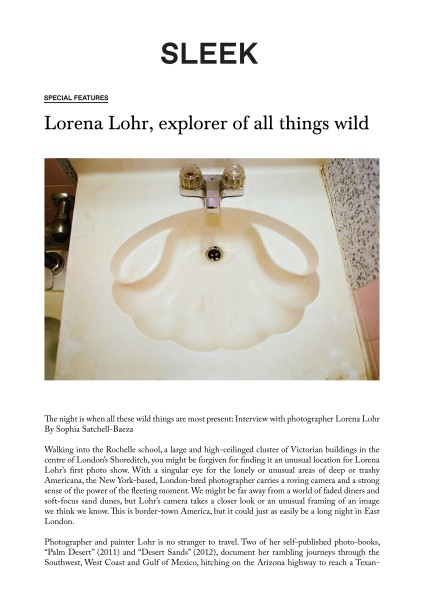 Lorena Lohr, explorer of all things wild
