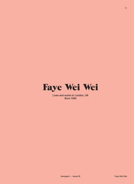 Feature on Faye Wei Wei
