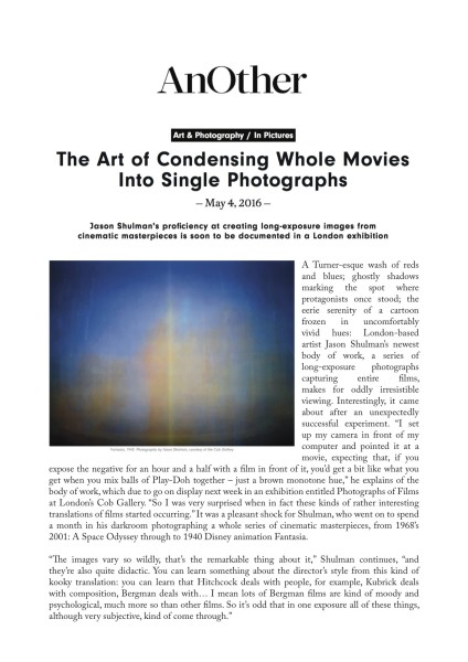 The Art of Condensing Whole Movies Into Single Photographs