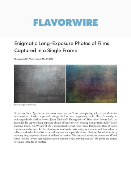 Enigmatic Long-Exposure Photos of Films Captured in a Single Frame