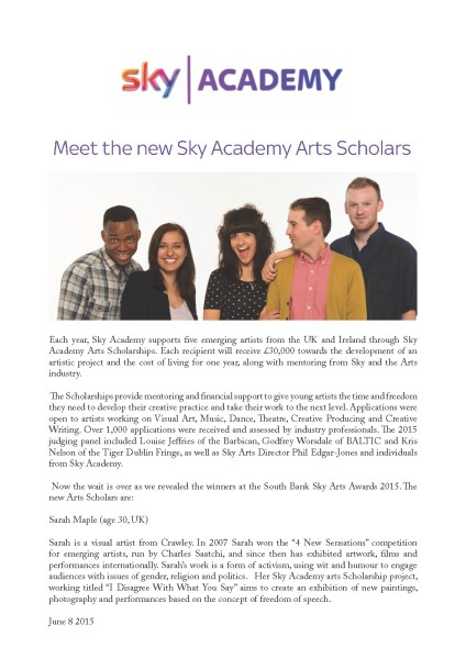 Meet the new Sky Academy Arts Scholarships recipients
