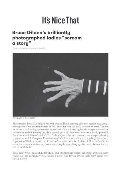 "Bruce Gilden's brilliantly photographed ladies ""scream a story"""