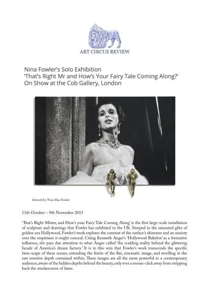 Nina Fowler's Solo Exhibition