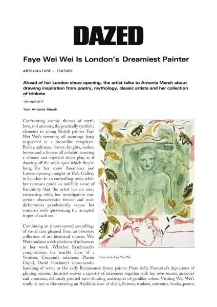 Faye Wei Wei is London's dreamiest painter
