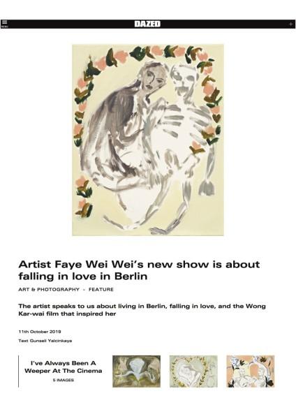 Artist Faye Wei Wei's new show is about falling in love in Berlin