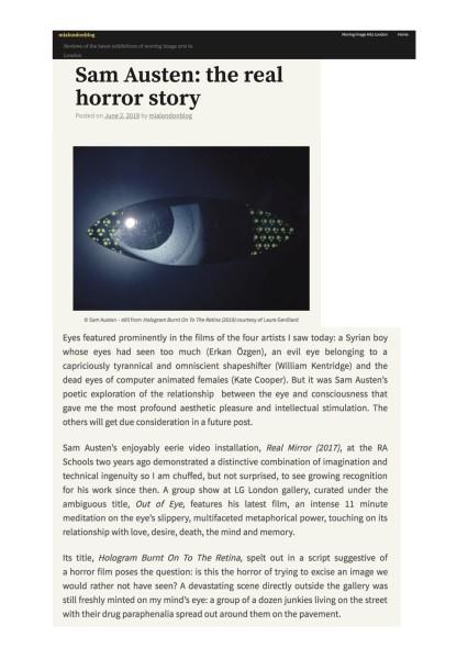 Sam Austen: the real horror story