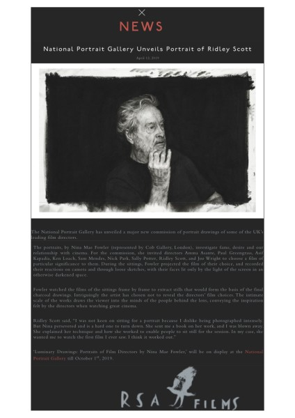 National Portrait Gallery Unveils Portrait of Ridley Scott
