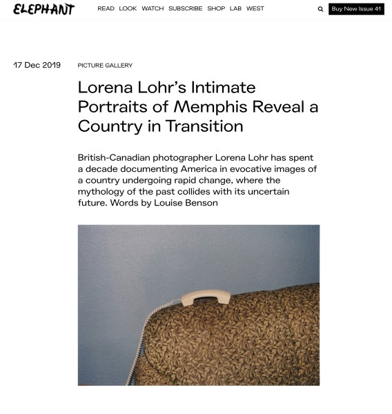 Lorena Lohr's Intimate Portraits of Memphis Reveal a Country in Transition