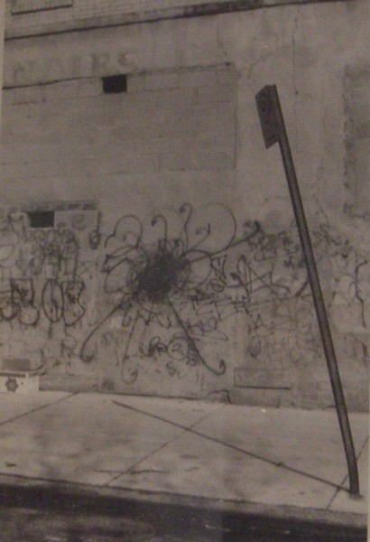 Andrew Castrucci, Spray paint on wall, 1996
