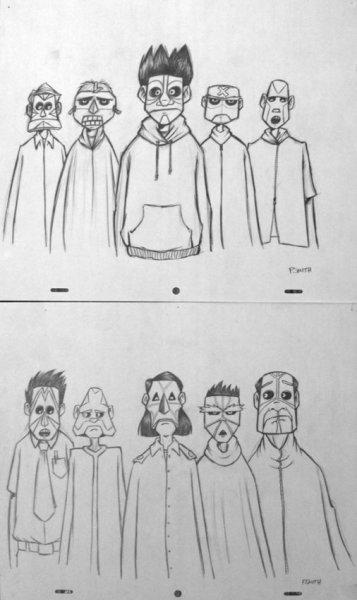 Patrick Smith, Animation drawings, 2007