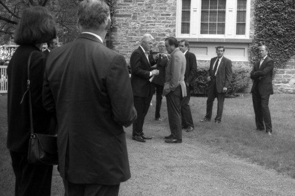 Robert Dimin, Clinton and Stone at Princeton, 2006