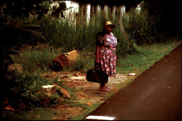 Ohad Maiman, Woman by Road (Seychelles), 2004