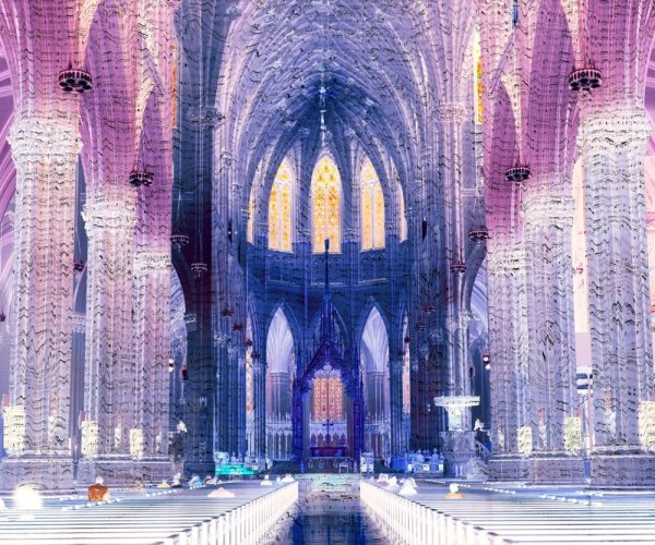 Olimpia Ferrari She Aznavour Saint Patrick's Cathedral, New York, 2008 Lambda C-print on duraclear paper 40 x 50 inches (101 x 127 cm) edition of 4